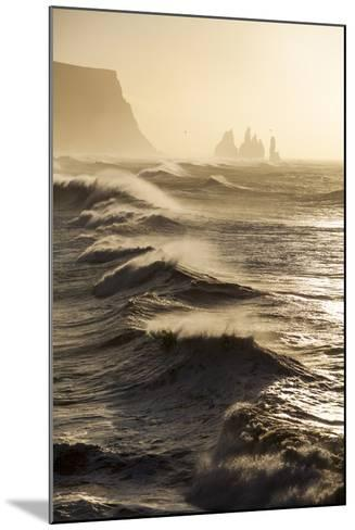 Iceland, Reynisfjara. Waves Breaking on Reynisfjara Beach-Katie Garrod-Mounted Photographic Print