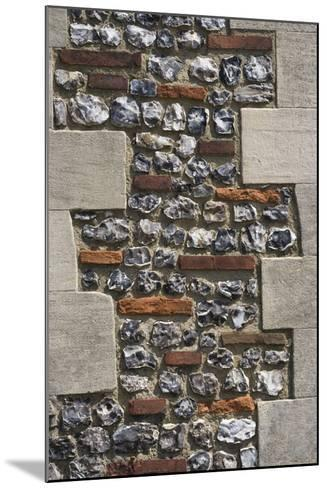 Roman Flint and Tile Wall-Natalie Tepper-Mounted Photo