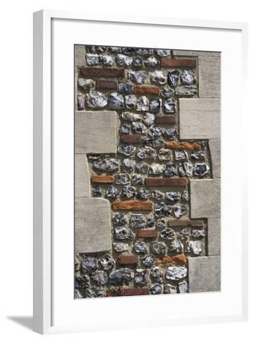 Roman Flint and Tile Wall-Natalie Tepper-Framed Art Print