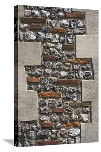 Roman Flint and Tile Wall-Natalie Tepper-Stretched Canvas Print