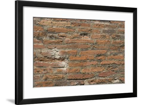 Roman Brick and Tile Wall-Natalie Tepper-Framed Art Print