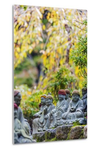 Asia, Japan, Honshu, Hiroshima Prefecture, Miyajima Island, Statues in Daisho in Temple-Christian Kober-Metal Print