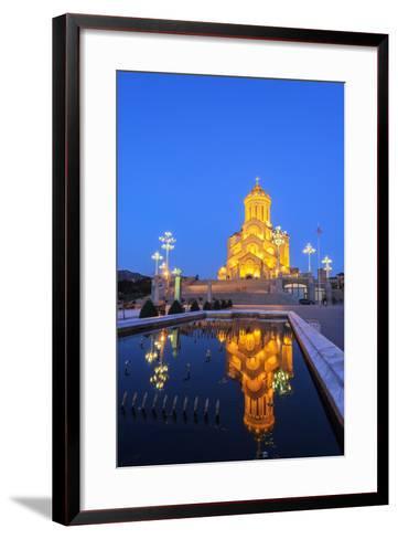Eurasia, Caucasus Region, Georgia, Tbilisi, Tbilisi Sameda Cathedral-Christian Kober-Framed Art Print