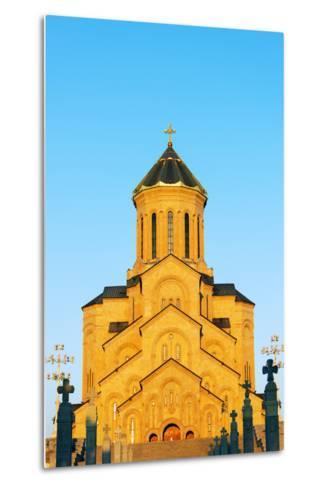 Eurasia, Caucasus Region, Georgia, Tbilisi, Tbilisi Sameda Cathedral-Christian Kober-Metal Print