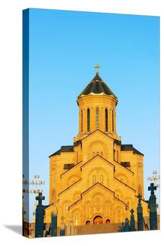 Eurasia, Caucasus Region, Georgia, Tbilisi, Tbilisi Sameda Cathedral-Christian Kober-Stretched Canvas Print