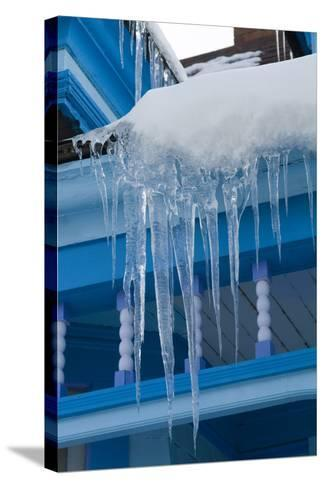 Icicles on Roof-Natalie Tepper-Stretched Canvas Print