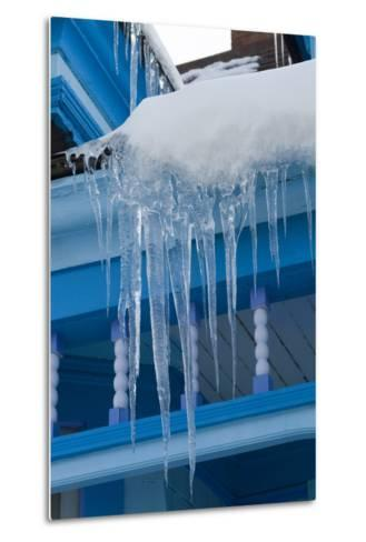 Icicles on Roof-Natalie Tepper-Metal Print