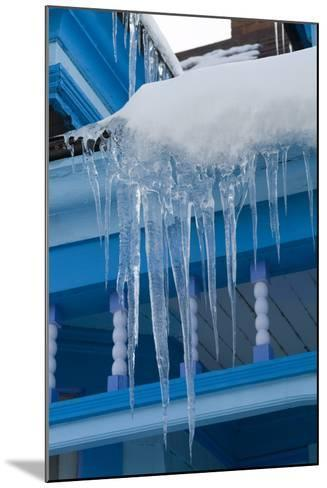 Icicles on Roof-Natalie Tepper-Mounted Photo