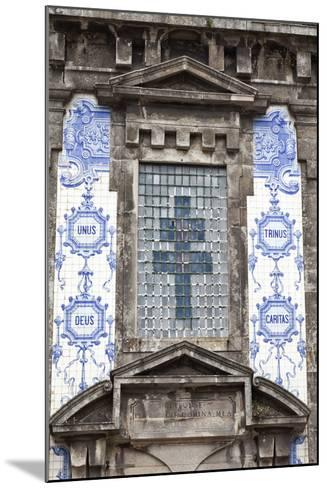 Detail of the Azulejos Adorned Front Facade of the Church of Saint Lldefonso Porto Portugal-Julian Castle-Mounted Photo