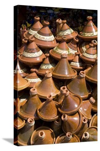 Traditional Tagine Pots, Souk Near Bab Agnou (One of the City Gates), Marrakech, Morocco-Natalie Tepper-Stretched Canvas Print