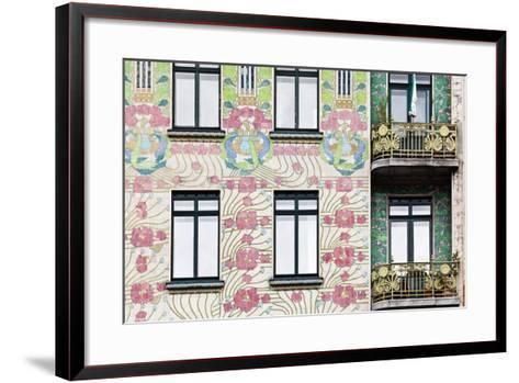 Facade of Jugendstil Style Majolikahaus (Majolica) House at No-Julian Castle-Framed Art Print