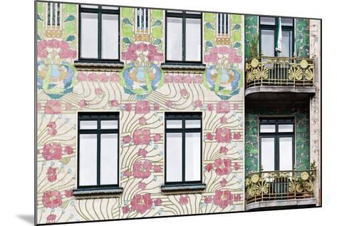 Facade of Jugendstil Style Majolikahaus (Majolica) House at No-Julian Castle-Mounted Photo