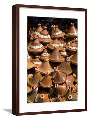 Traditional Tagine Pots, Souk Near Bab Agnou (One of the City Gates), Marrakech, Morocco-Natalie Tepper-Framed Art Print