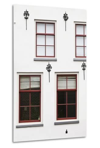 Facade of a Traditional Town House in Utrecht, Netherlands-Julian Castle-Metal Print