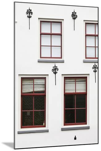 Facade of a Traditional Town House in Utrecht, Netherlands-Julian Castle-Mounted Photo