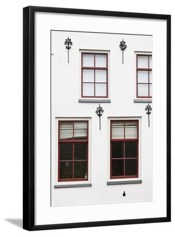 Facade of a Traditional Town House in Utrecht, Netherlands-Julian Castle-Framed Art Print