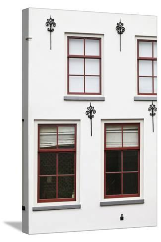 Facade of a Traditional Town House in Utrecht, Netherlands-Julian Castle-Stretched Canvas Print