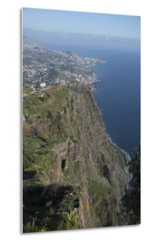 Down to Funchal from Platform at Cabo Girao Second Highest Cliff in World at 589 Metres Portugal-Natalie Tepper-Metal Print