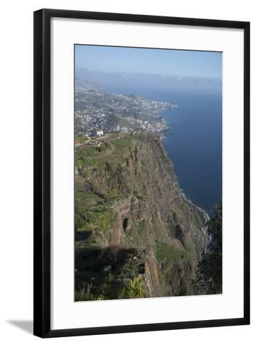 Down to Funchal from Platform at Cabo Girao Second Highest Cliff in World at 589 Metres Portugal-Natalie Tepper-Framed Art Print