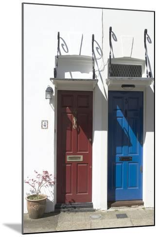 Matching Red and Blue Doors-Natalie Tepper-Mounted Photo