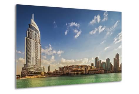 The 5 Star Address Downtown Dubai Hotel Designed by Architects Atkins and Souk Al Bahar-Cahir Davitt-Metal Print