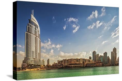 The 5 Star Address Downtown Dubai Hotel Designed by Architects Atkins and Souk Al Bahar-Cahir Davitt-Stretched Canvas Print