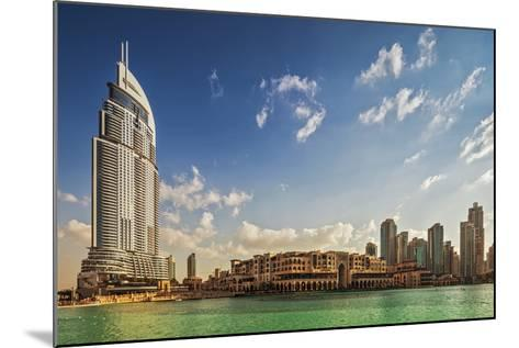 The 5 Star Address Downtown Dubai Hotel Designed by Architects Atkins and Souk Al Bahar-Cahir Davitt-Mounted Photographic Print
