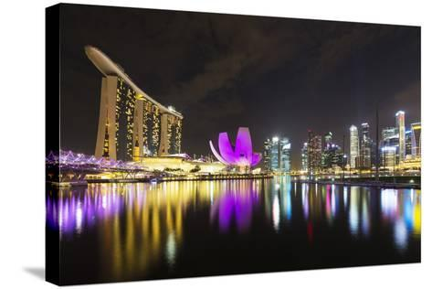South East Asia, Singapore, Marina Bay Sands and Art Science Museum-Christian Kober-Stretched Canvas Print