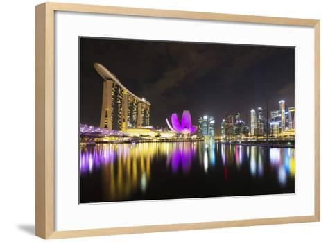 South East Asia, Singapore, Marina Bay Sands and Art Science Museum-Christian Kober-Framed Art Print