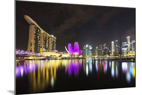 South East Asia, Singapore, Marina Bay Sands and Art Science Museum-Christian Kober-Mounted Photographic Print