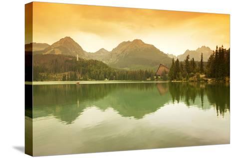 Slovakia, Carpathian Mountains, High Tatra. the Strbske Pleso Lake-Ken Scicluna-Stretched Canvas Print