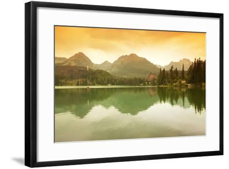 Slovakia, Carpathian Mountains, High Tatra. the Strbske Pleso Lake-Ken Scicluna-Framed Art Print