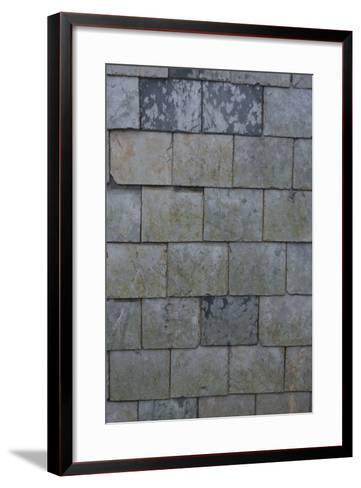 Detail of Shingles on the Side of a House, Port Isaac, Cornwall, UK-Natalie Tepper-Framed Art Print