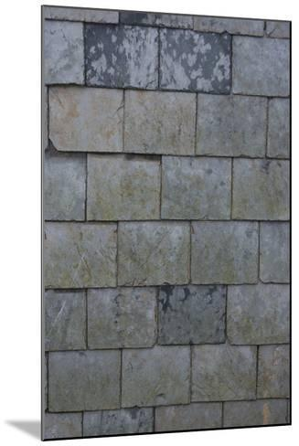 Detail of Shingles on the Side of a House, Port Isaac, Cornwall, UK-Natalie Tepper-Mounted Photo