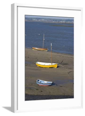 Low Tide at the Town of Appledore Looking Towards Instow, Devon, UK-Natalie Tepper-Framed Art Print