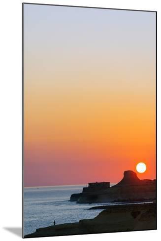 Mediterranean Europe, Malta, Gozo Island, Sunrise over Xwejni Bay-Christian Kober-Mounted Photographic Print