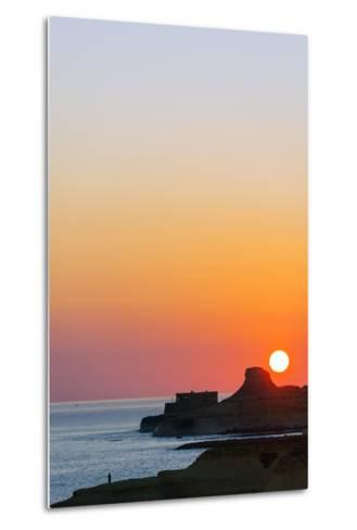 Mediterranean Europe, Malta, Gozo Island, Sunrise over Xwejni Bay-Christian Kober-Metal Print