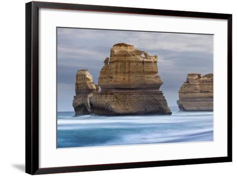 12 Apostles National Marine Park, Gibsons Beach, Port Campbell National Park, Princetown, Victoria-Cahir Davitt-Framed Art Print
