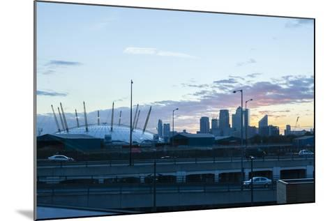 City Skyline Showing the O2 Arena and Canary Wharf London. Uk-David Cabrera-Mounted Photo