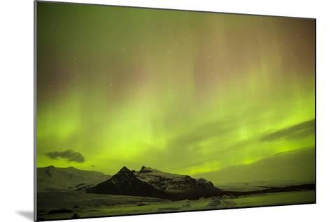 Iceland, Fjallsarlon. the Northern Lights Appearing in the Sky at Fjallsarlonll.-Katie Garrod-Mounted Photographic Print