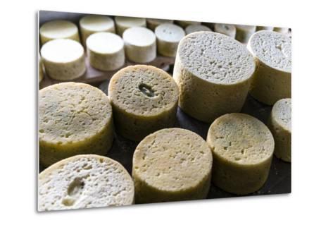 Queserýa Rogelio Lopez Campo, Cabrales Cheese Maker, at Sotres, Asturias, Spain-Carlos Sanchez Pereyra-Metal Print
