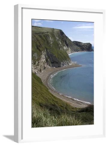 The Beach at Durdle Door on the Jurassic Coast, Dorset, UK-Natalie Tepper-Framed Art Print