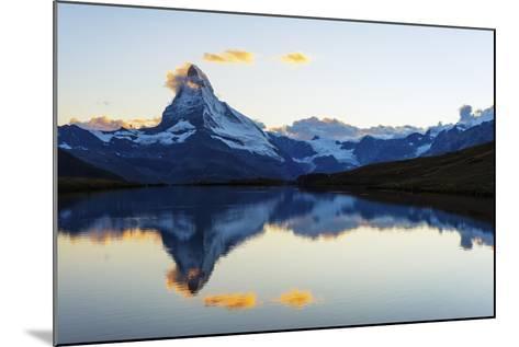 Europe, Switzerland, Valais, Zermatt, Matterhorn (4478M), Stellisee Lake-Christian Kober-Mounted Photographic Print