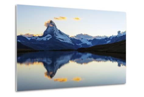 Europe, Switzerland, Valais, Zermatt, Matterhorn (4478M), Stellisee Lake-Christian Kober-Metal Print