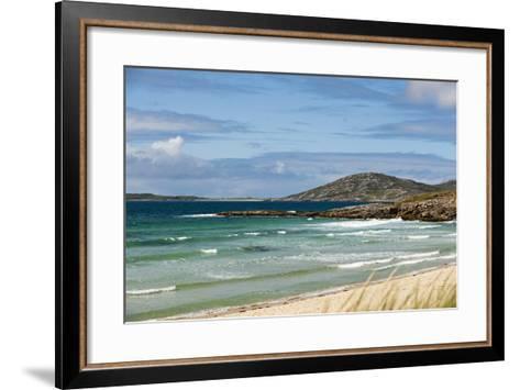 Uk, Scotland, Outer Hebrides, Harris. Ceilebost Beach-John Warburton-lee-Framed Art Print
