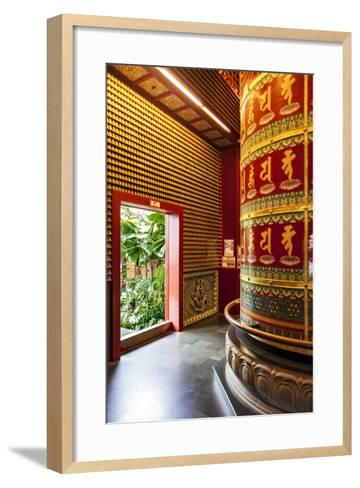 The Vairocana Bhudda Prayer Wheel Detail in Buddha Tooth Relic Temple and Museum, South Bridge Road-Cahir Davitt-Framed Art Print