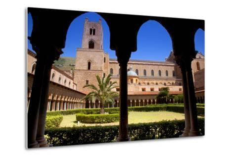 Italy, Sicily, Monreale. the Cathedral Form under the Monastery Arches.-Ken Scicluna-Metal Print