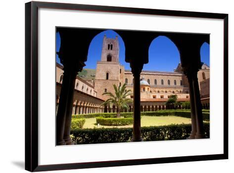 Italy, Sicily, Monreale. the Cathedral Form under the Monastery Arches.-Ken Scicluna-Framed Art Print