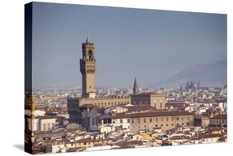 Italy, Tuscany, Florence. Palazzo Vecchio and Overview of Surroundings.-Ken Scicluna-Stretched Canvas Print