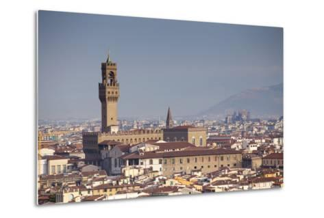 Italy, Tuscany, Florence. Palazzo Vecchio and Overview of Surroundings.-Ken Scicluna-Metal Print